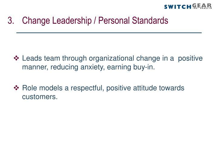 Change Leadership / Personal Standards