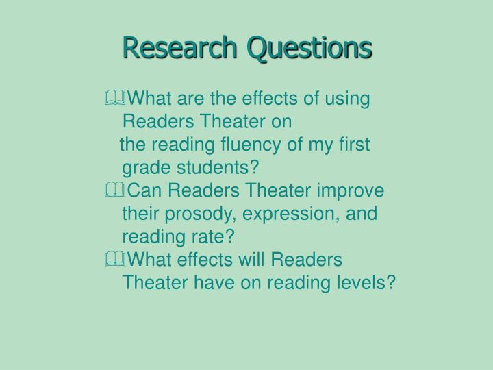 PPT - The Effects of Readers Theater on Fluency PowerPoint ...