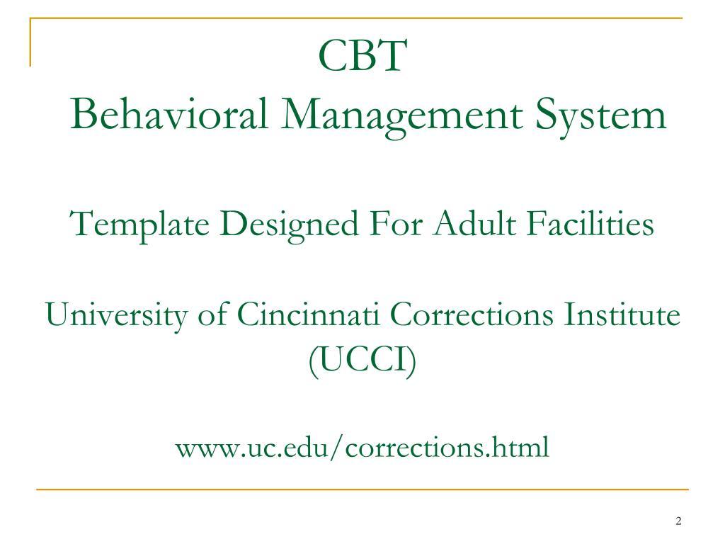 PPT - Behavior Management System For Residential Programs
