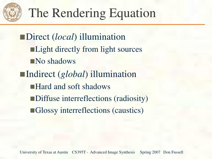 the rendering equation n.