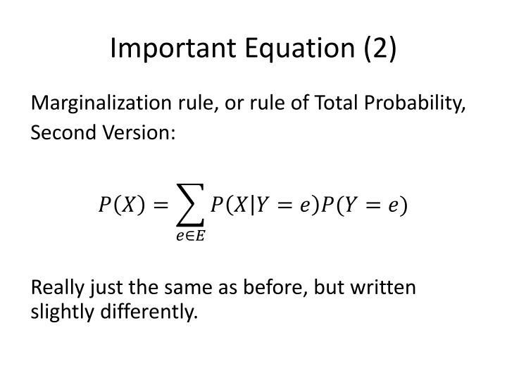Important Equation (2)