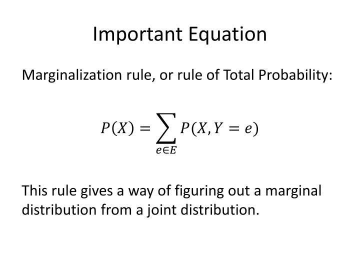 Important Equation