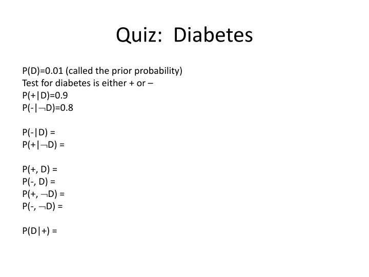 Quiz:  Diabetes