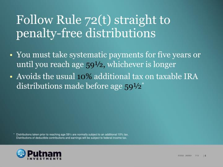 Follow Rule 72(t) straight to