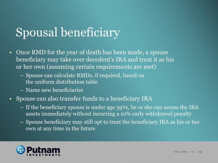 Spousal beneficiary