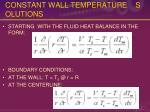 constant wall temperature solutions