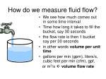 how do we measure fluid flow
