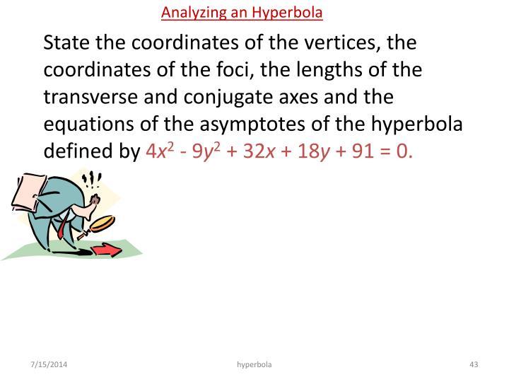 Analyzing an Hyperbola