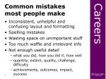 common mistakes most people make