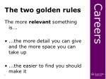 the two golden rules