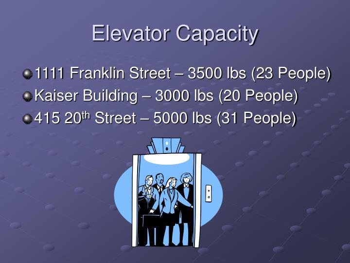 Elevator Capacity