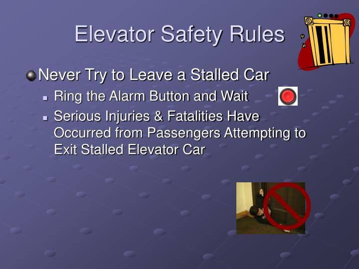 Elevator Safety Rules