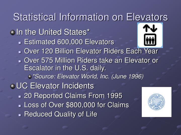 Statistical Information on Elevators