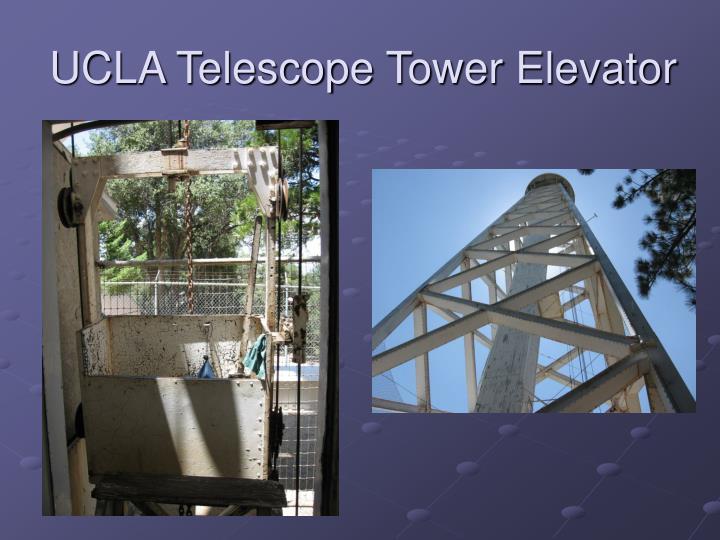 UCLA Telescope Tower Elevator