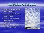 middle level clouds