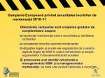 campania european privind securitatea lucr rilor de mentenan 2010 11