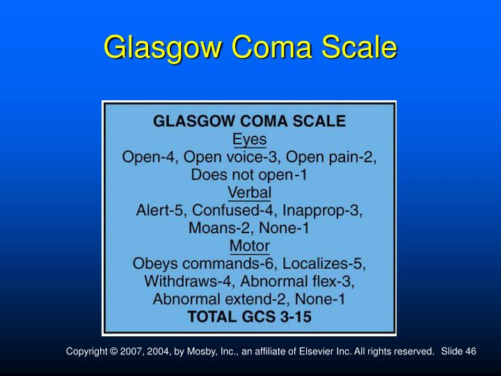 Glasgow Coma Scale