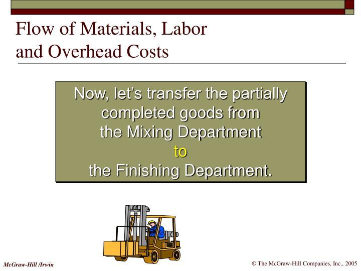 Flow of Materials, Labor