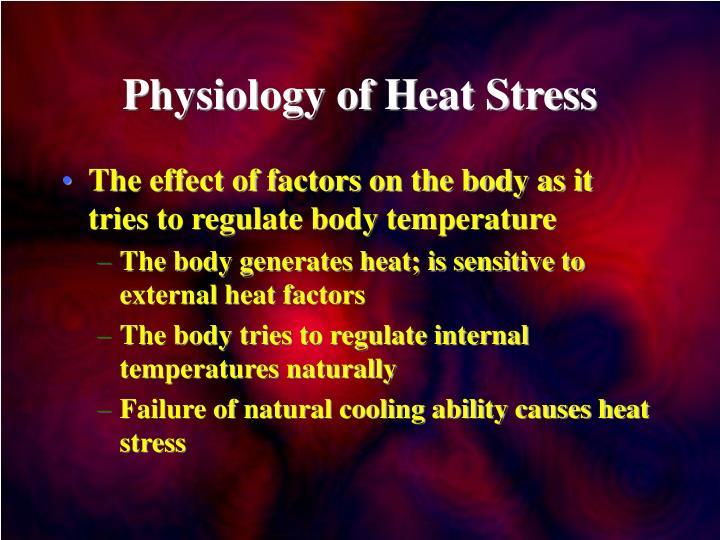 Heat stress powerpoint | cornett's corner.