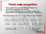 fiscal code recognition