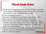 fiscal code rules