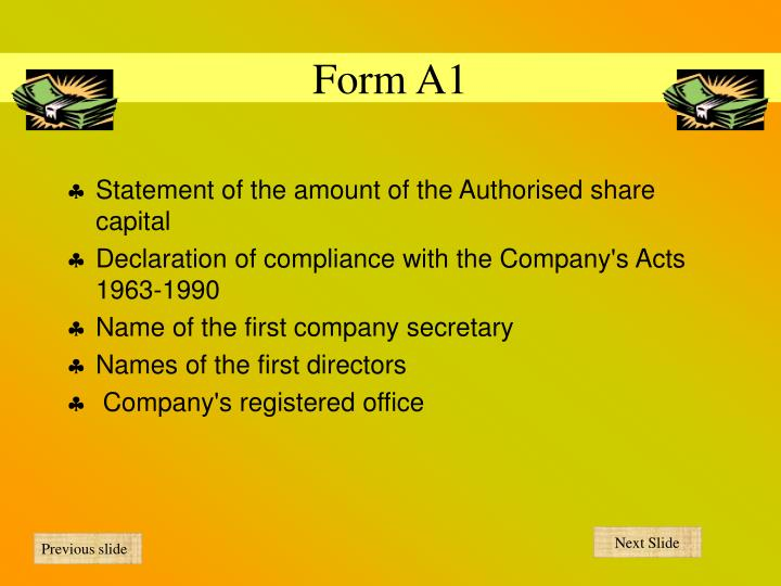 Form A1