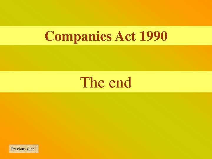 Companies Act 1990