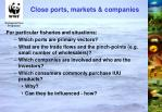 close ports markets companies