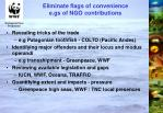 eliminate flags of convenience e gs of ngo contributions