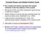 coastal ocean and global carbon cycle3