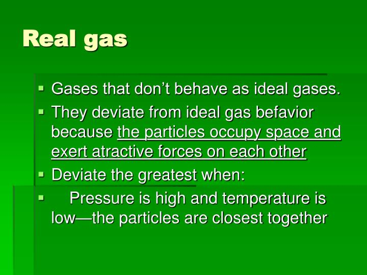 Real gas