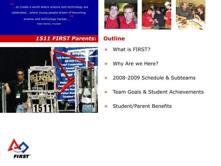1511 FIRST Parents