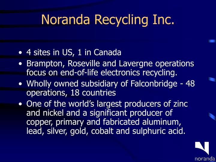 Noranda recycling inc
