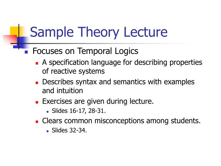 sample theory lecture n.