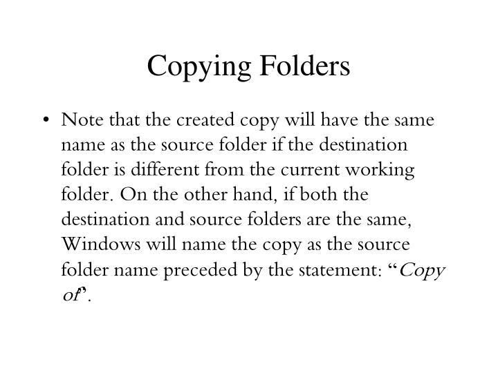 Copying Folders