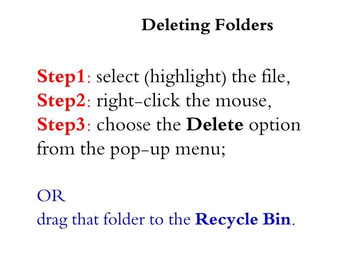 Deleting Folders