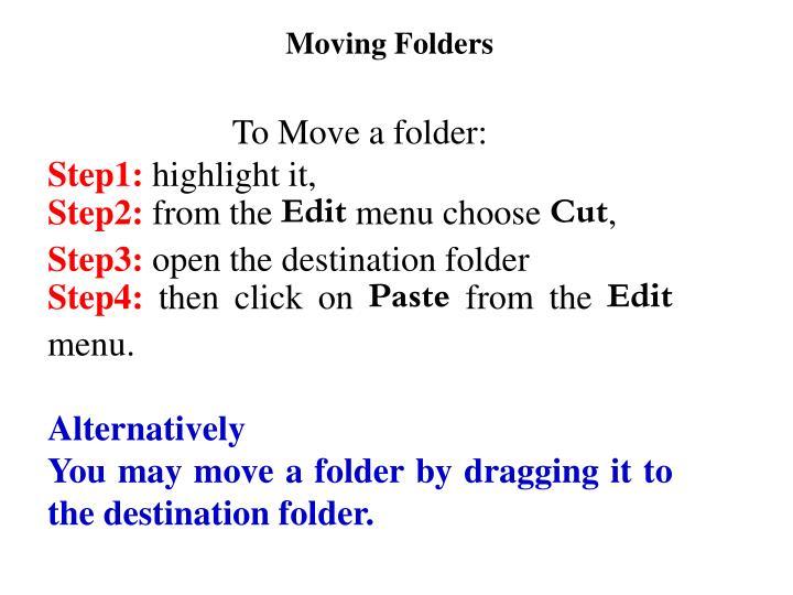 Moving Folders