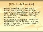 effectively assertive