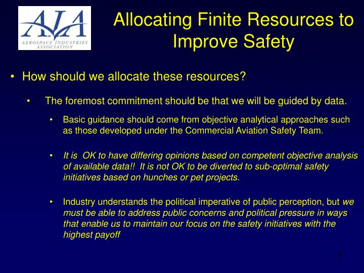 allocation of finite resources Ethical issues resource allocation but that is not and, because resources are finite, cannot be, a duty to provide all conceivable treatments in all circumstances.