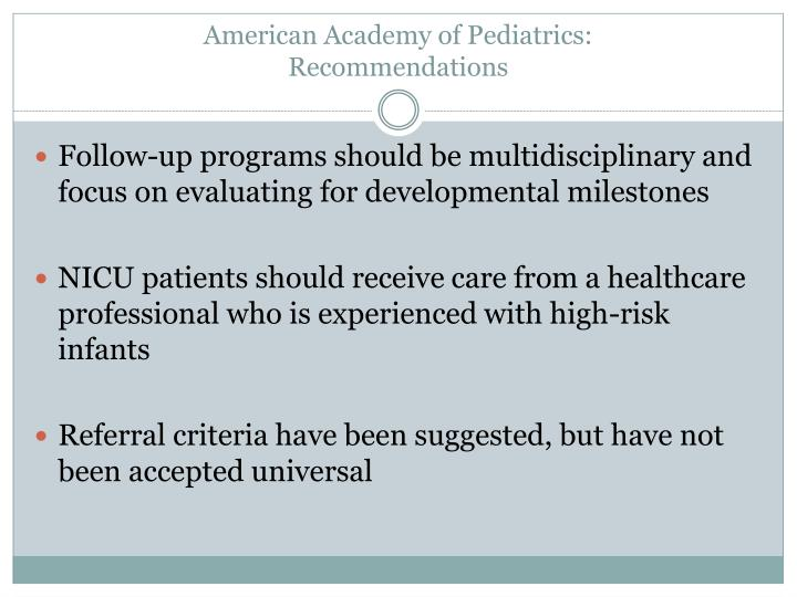 American Academy of Pediatrics: