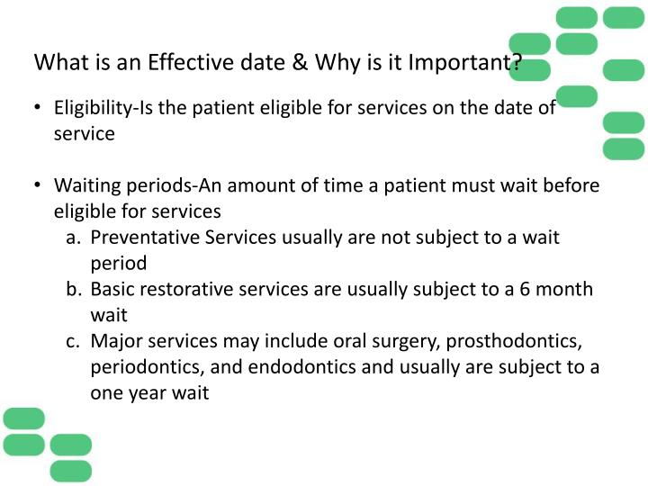 What is an Effective date & Why is it Important?