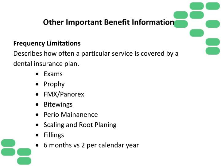 Other Important Benefit Information