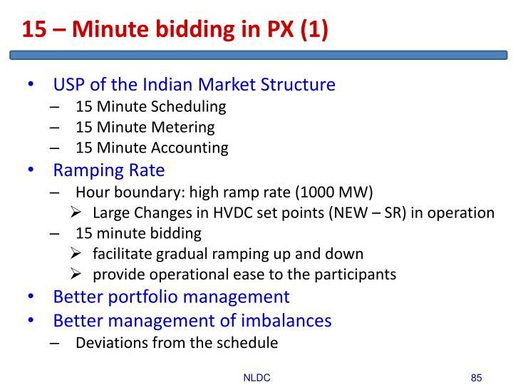 15 – Minute bidding in PX (1)