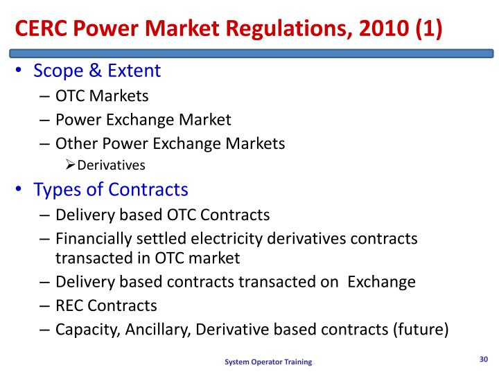CERC Power Market Regulations, 2010 (1)