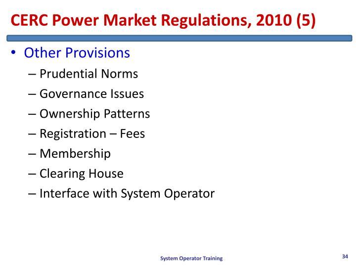 CERC Power Market Regulations, 2010 (5)
