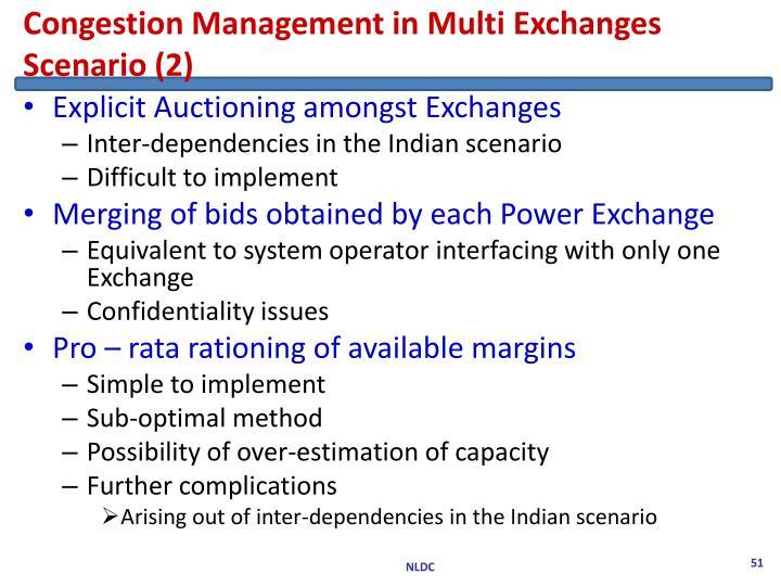 Congestion Management in Multi Exchanges Scenario (2)