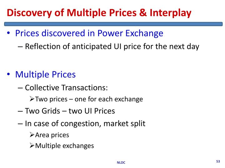 Discovery of Multiple Prices & Interplay