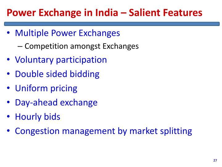 Power Exchange in India – Salient Features