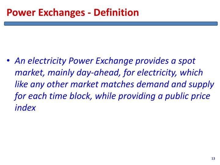 Power Exchanges - Definition