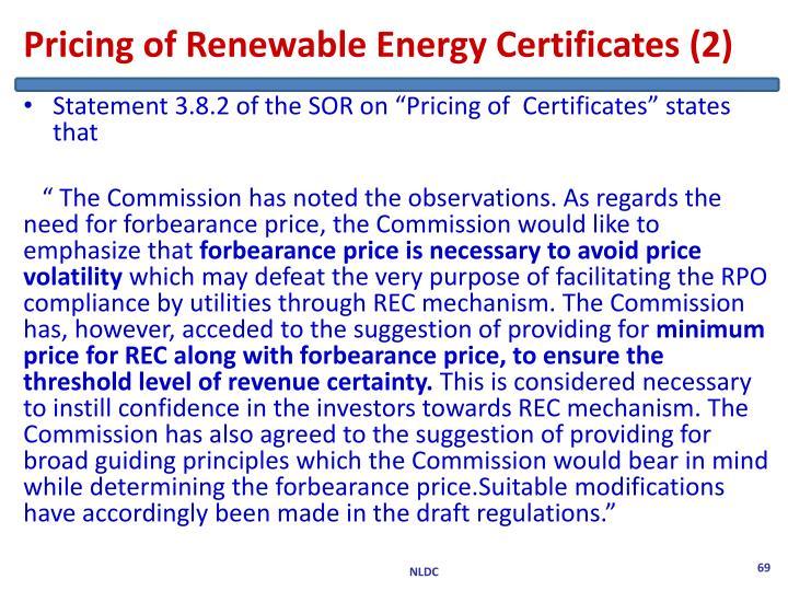 Pricing of Renewable Energy Certificates (2)